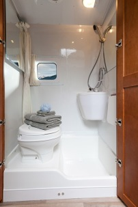 One of the great features of the Free Spirit is the enclosed wet bath complete with shower.